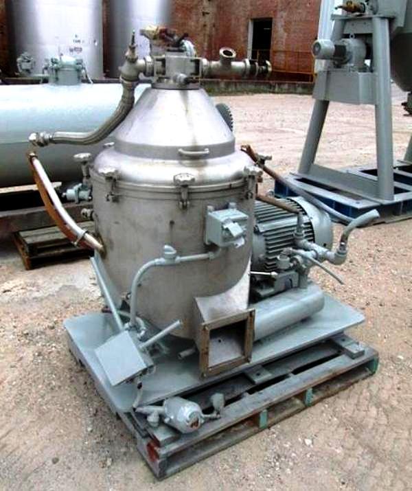 (3) Alfa-Laval BRPX 309 SGT-34-60 clarifiers, 316SS.