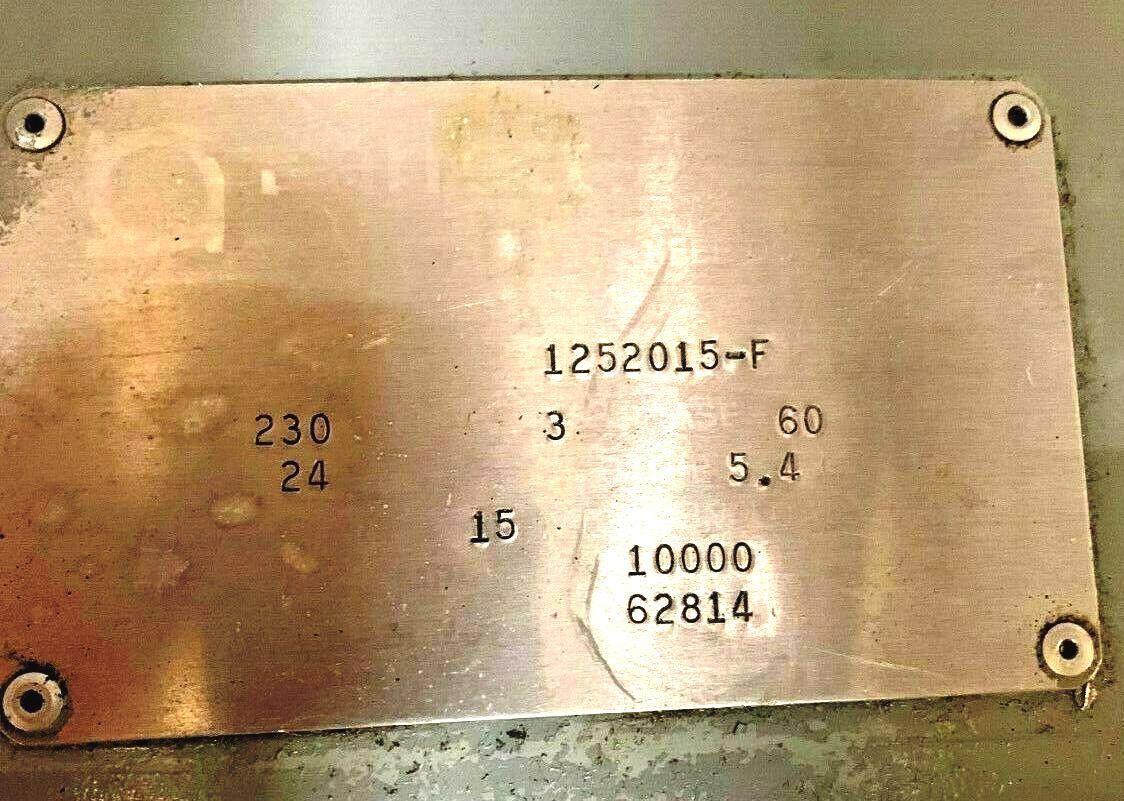 Barrett 125-F Clarifuge centrifuge, SS.