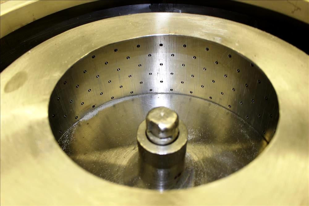 Fletcher 14 x 6 perforate basket centrifuge, 316SS.