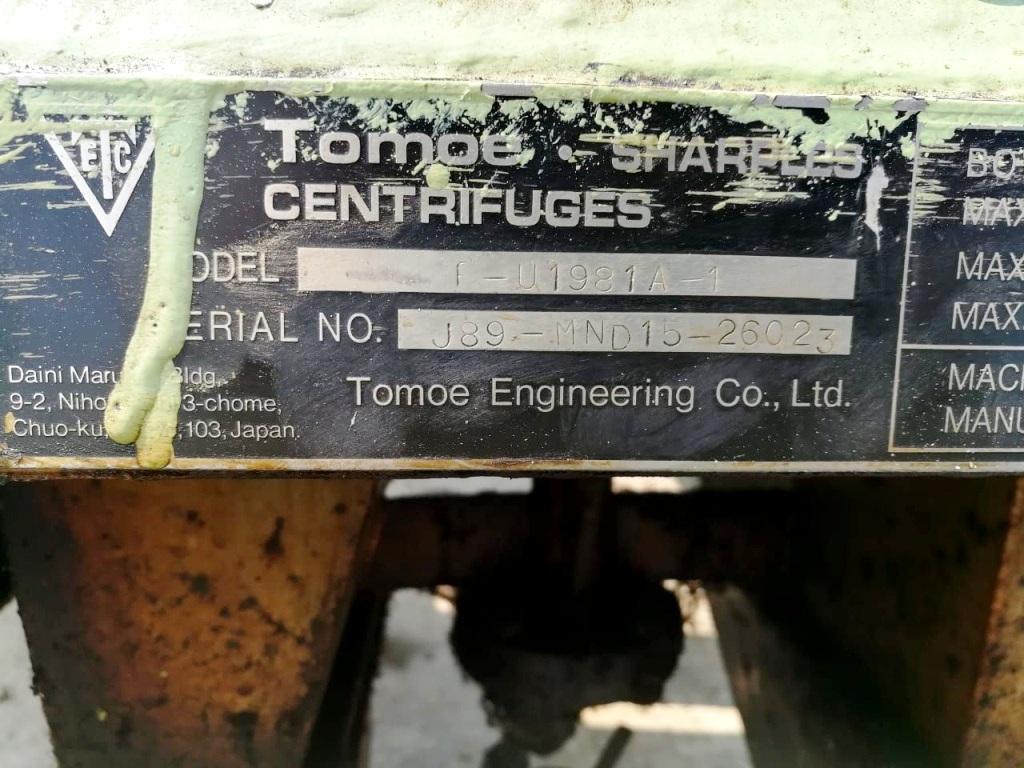 Sharples-Tomoe P660 Super-D-Canter centrifuge, 316SS.