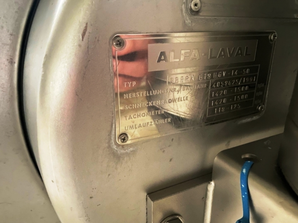(2) Alfa-Laval BBRPX 618 HGV hermetic Bactofuges, 316SS.