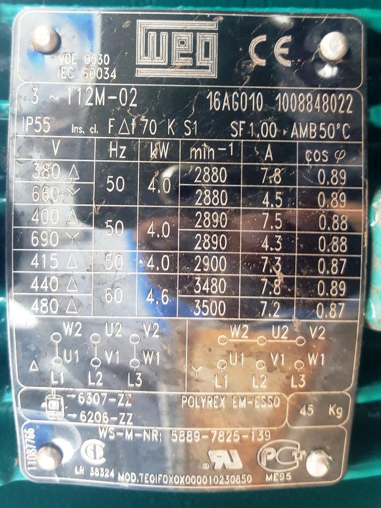 NEW: Westfalia OSE 5-0136-037/5 fuel oil purifier, SS.