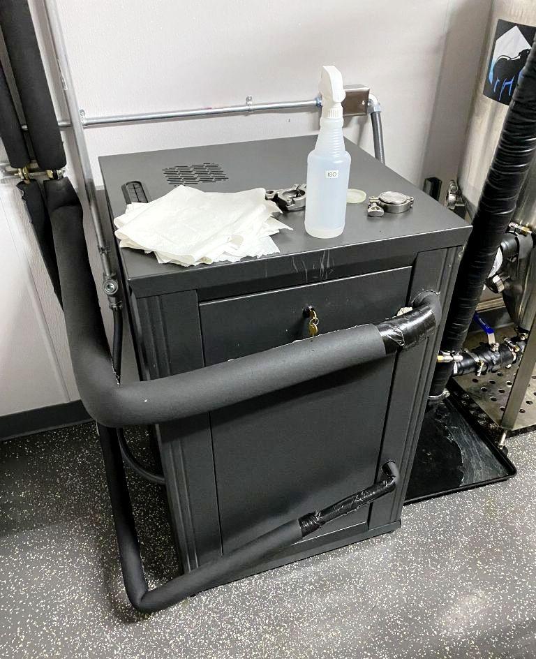 Ace Spinner ACE-30 sanitary hemp/alcohol extractor, 316SS.