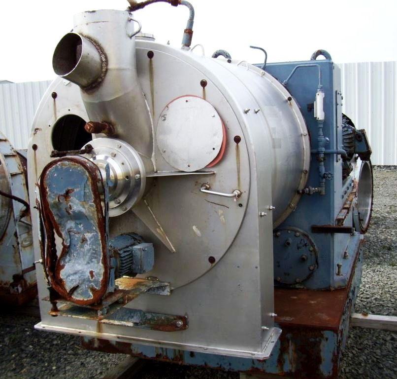 Alfa-Laval SB-800/2 2-stage pusher centrifuge, 316SS.