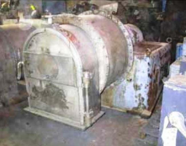 Baker-Perkins S-18 pusher centrifuge, 316SS.