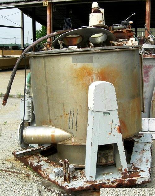 Western States 48 x 30 perforate basket centrifuge, Hastelloy C276.