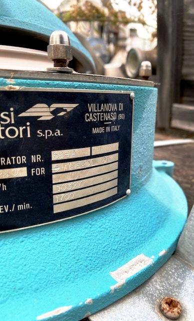 UNUSED: Veronesi BSGEB 250 lube oil purifier, SS.