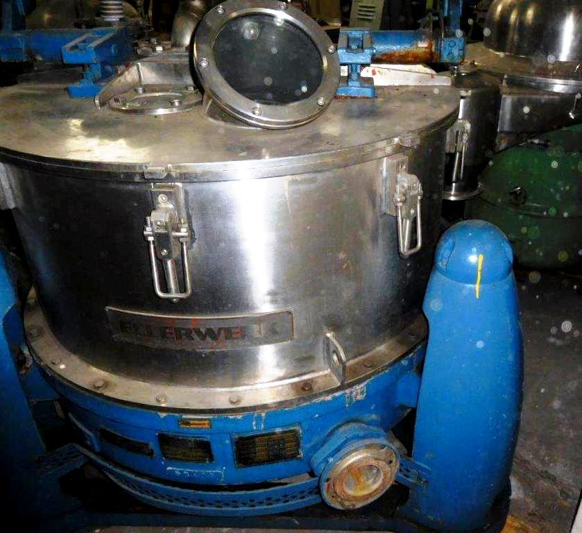 Ellerwerk/Heine 40 x 16 perforate basket centrifuge, 316SS.