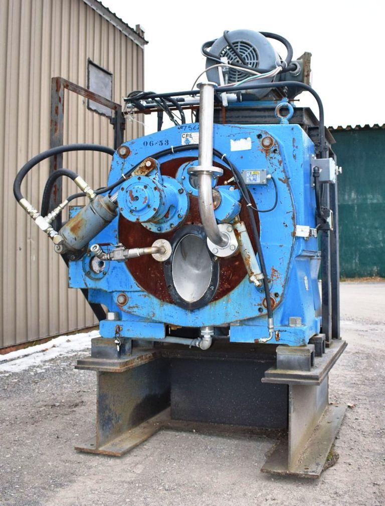 Sharples C-27 Super-D-Hydrator peeler centrifuge, 316SS.
