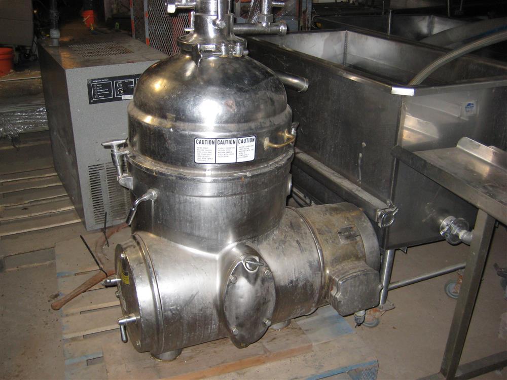 Westfalia MP 9004 cold milk separator, 316SS.