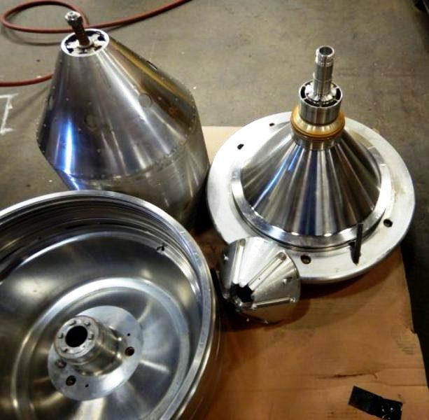 Alfa-Laval CRPX 714 HGV-14C peel oil separator, 316SS.