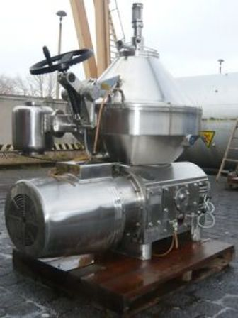 KMA Artern SMBZ/1 self-cleaning milk separator, 316SS.