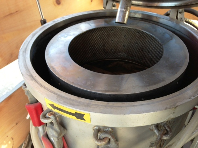 Western States 14 x 6 perforate basket centrifuge, 316SS.