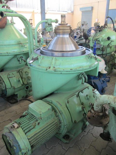 (8) Alfa-Laval FOPX 609 TFD-24-60 oil purifiers, 316SS.