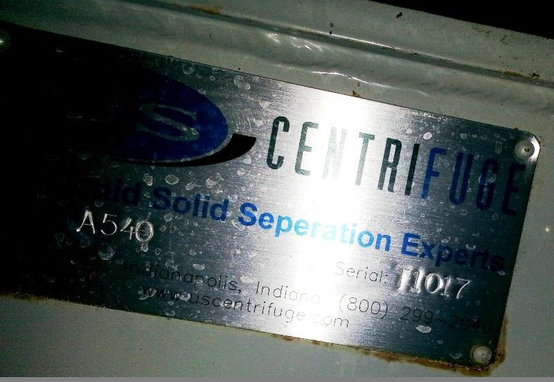 USC Duramatic A540 self-cleaning basket centrifuge.