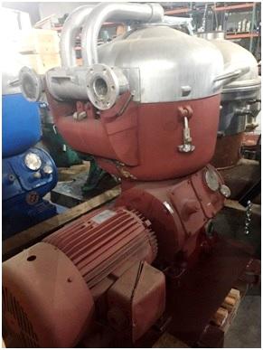 (2) Alfa-Laval B-214C degumming/wash water separators, SS.