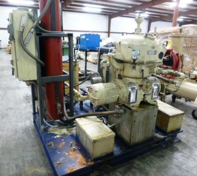 Westfalia OTA 14-00-066 biodiesel purifier skid, SS.
