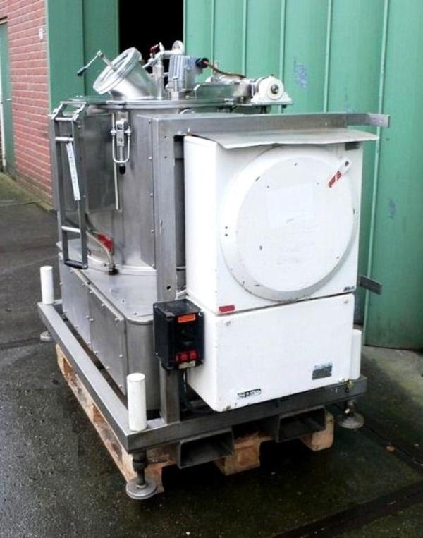 Ellerwerk 931 L-2 perforate basket centrifuge, 316SS.