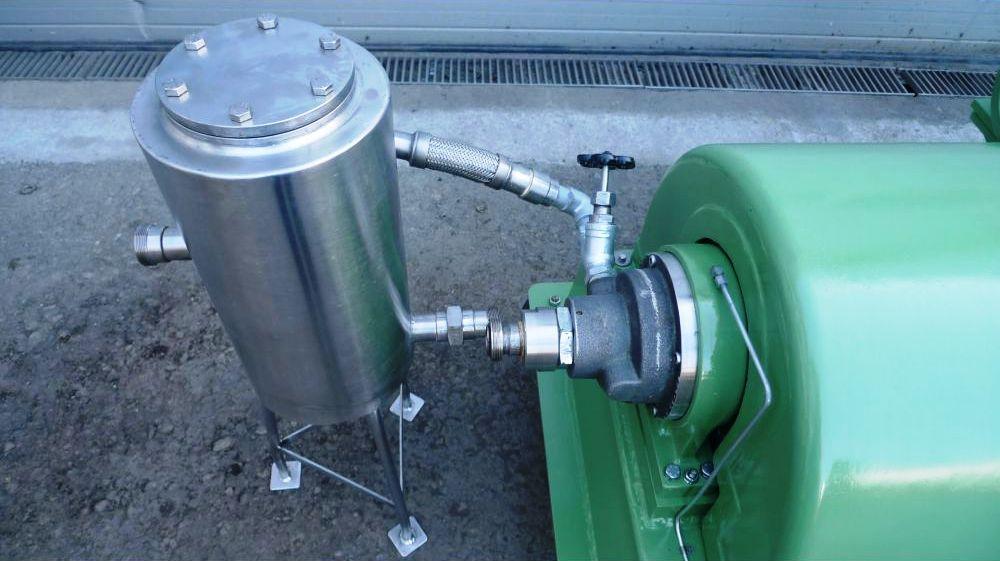 Flottweg Z2L solid bowl decanter centrifuge, 316SS.