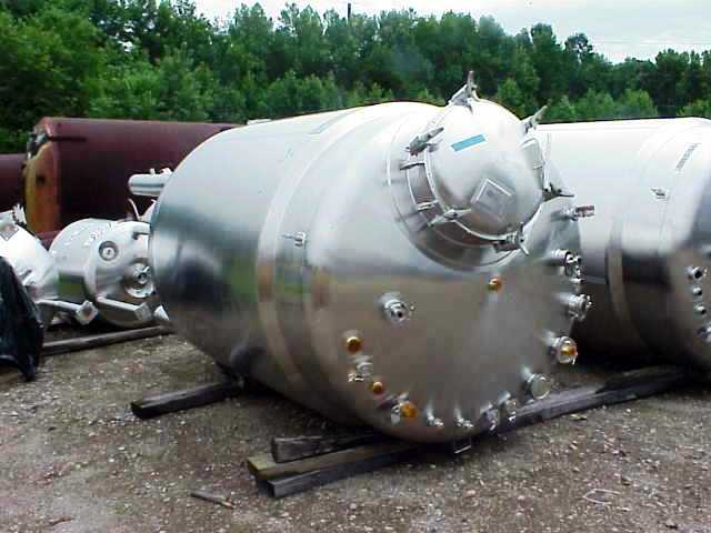 Cherry Burrell 1500 G (5000 L) SANITARY reactor, 316L SS.