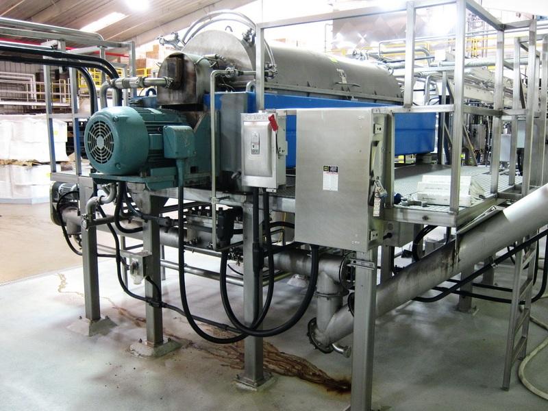 Centrisys CS 21-4 SANITARY decanter centrifuge, Duplex SS.