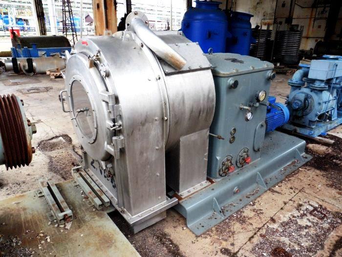 Krauss-Maffei SZ 70-1 pusher centrifuge, 316SS.