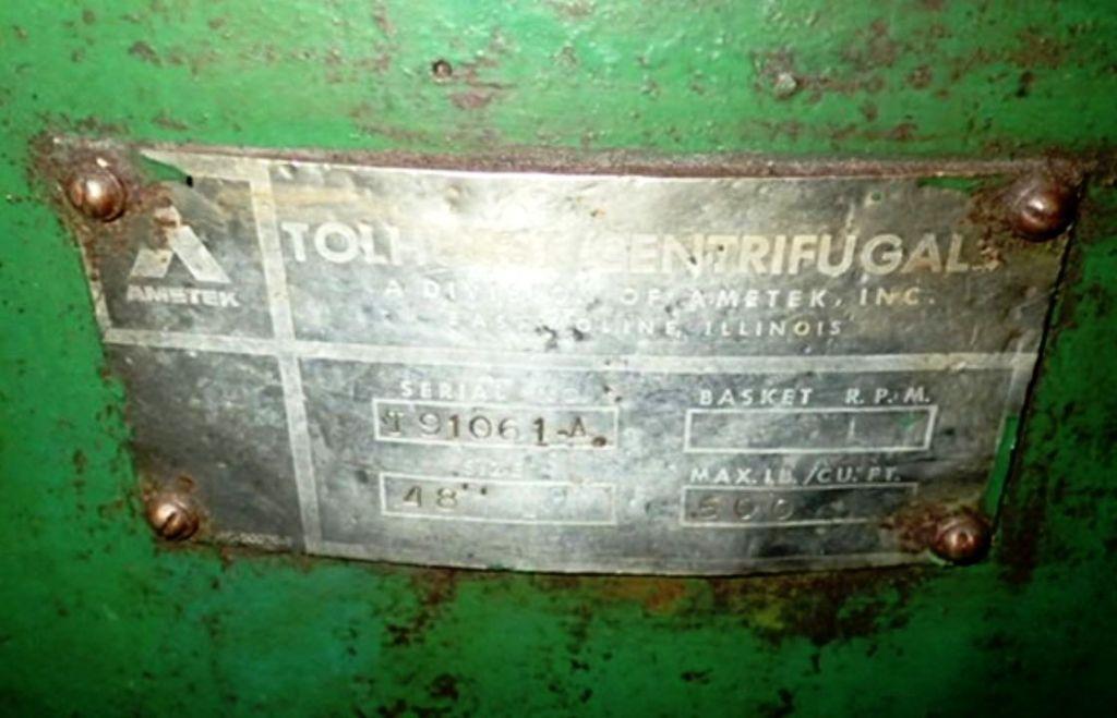 """Tolhurst 40"""" Center-Slung chip wringer."""