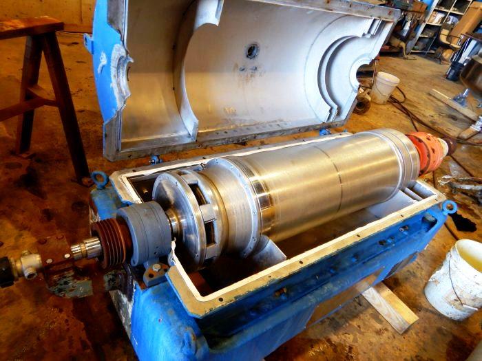 Sharples P3400 Super-D-Canter centrifuge, Hastelloy C-276.