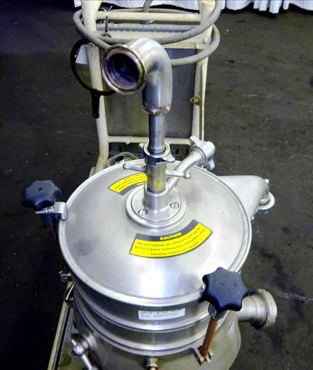Westfalia SKOG 205 lab nozzle centrifuge, 316SS.