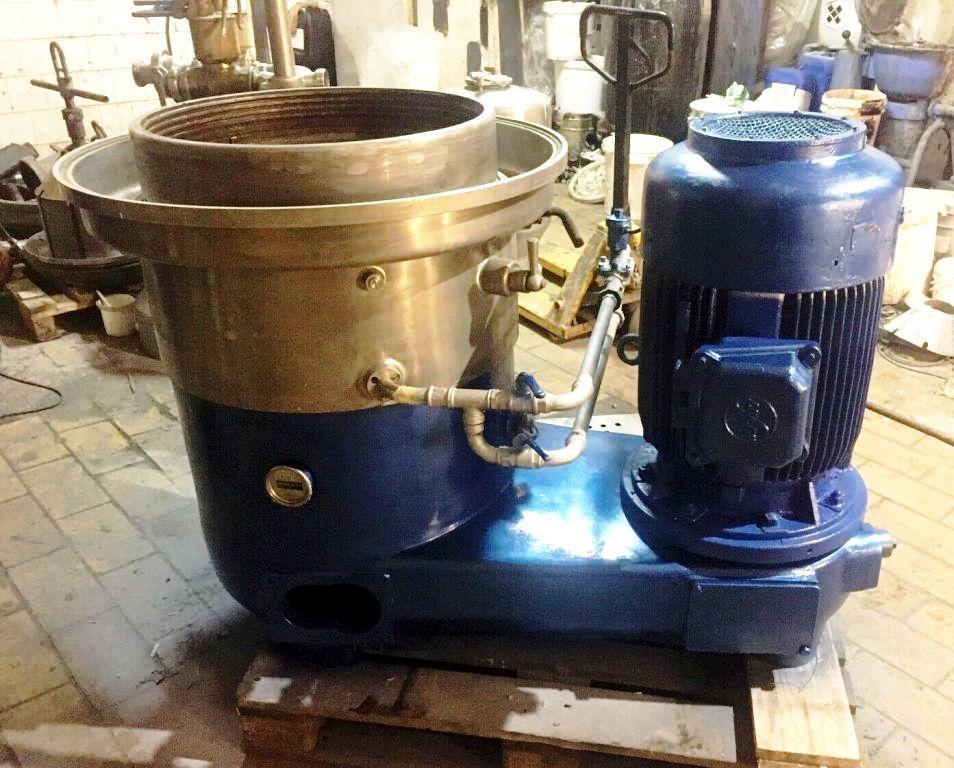 Westfalia SAMS 15037 clarifier centrifuge, 316SS.