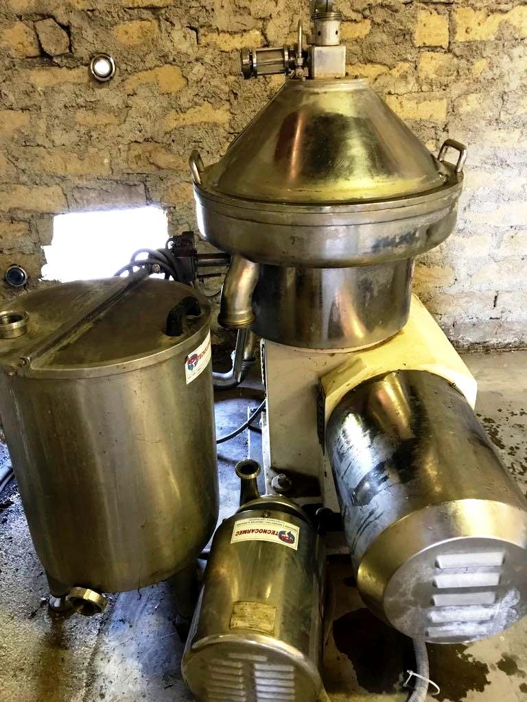 Pieralisi P1500 olive oil separator, 316SS.