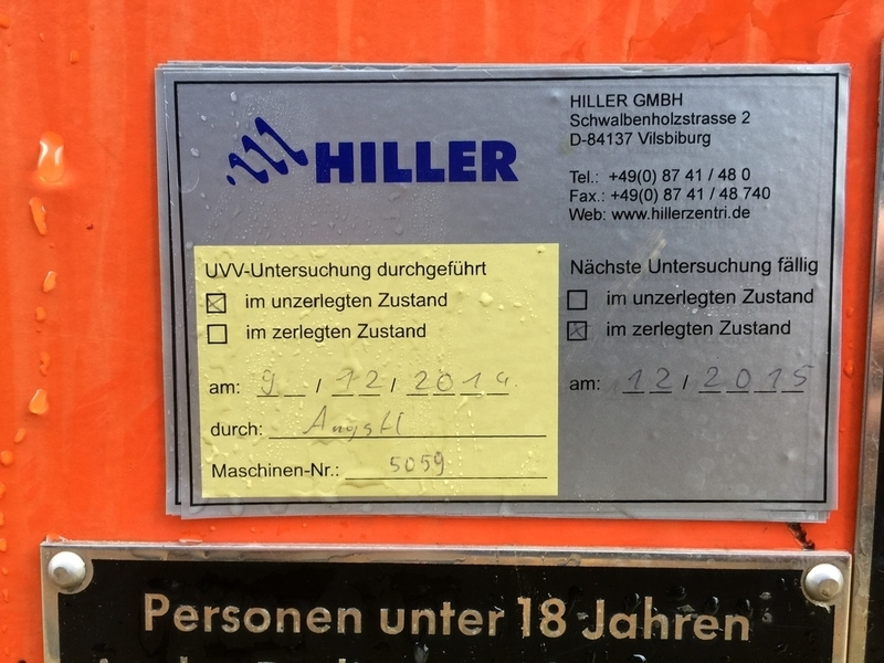 Humboldt BS 3-02 solid bowl decanter centrifuge, CS.