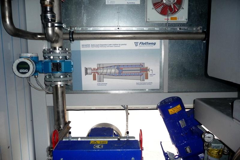 Flottweg Z5E-4/454 containerized decanter centrifuge, 316SS.