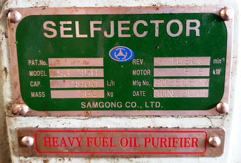 Mitsubishi SJ-35H self-cleaning oil purifier, SS bowl.