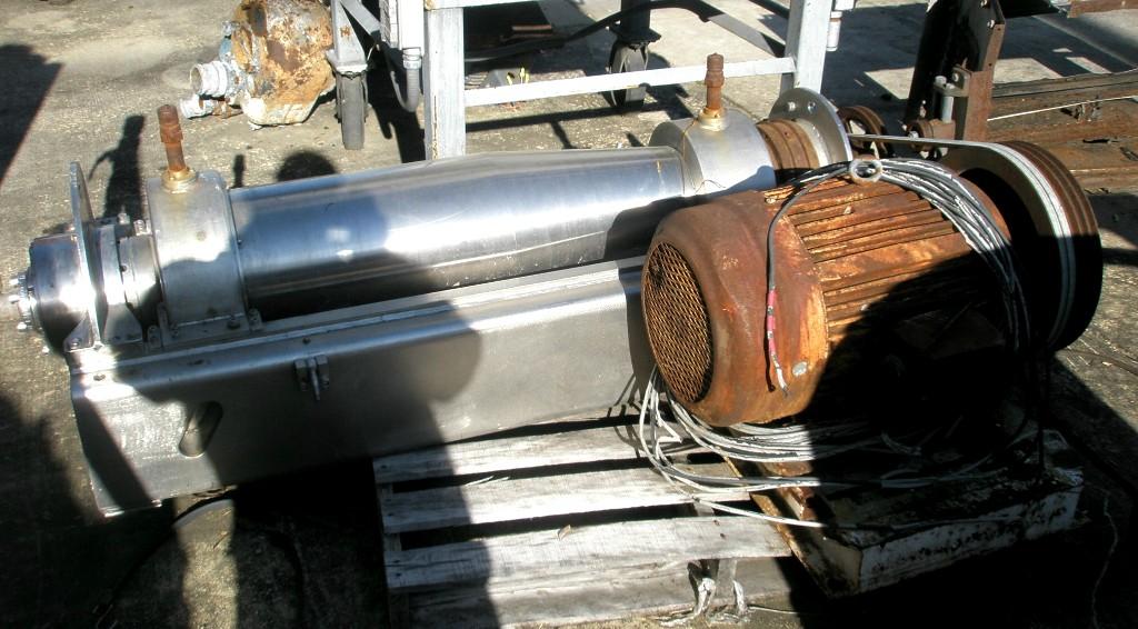 Guinard D2 PKLC sanitary decanter centrifuge, 316SS.