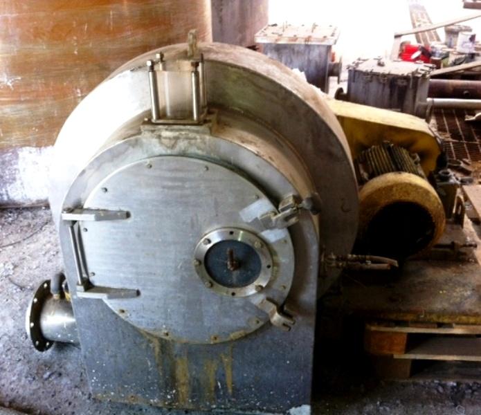 Siebtechnik H-400 Conturbex worm/screen centrifuge, 316SS.