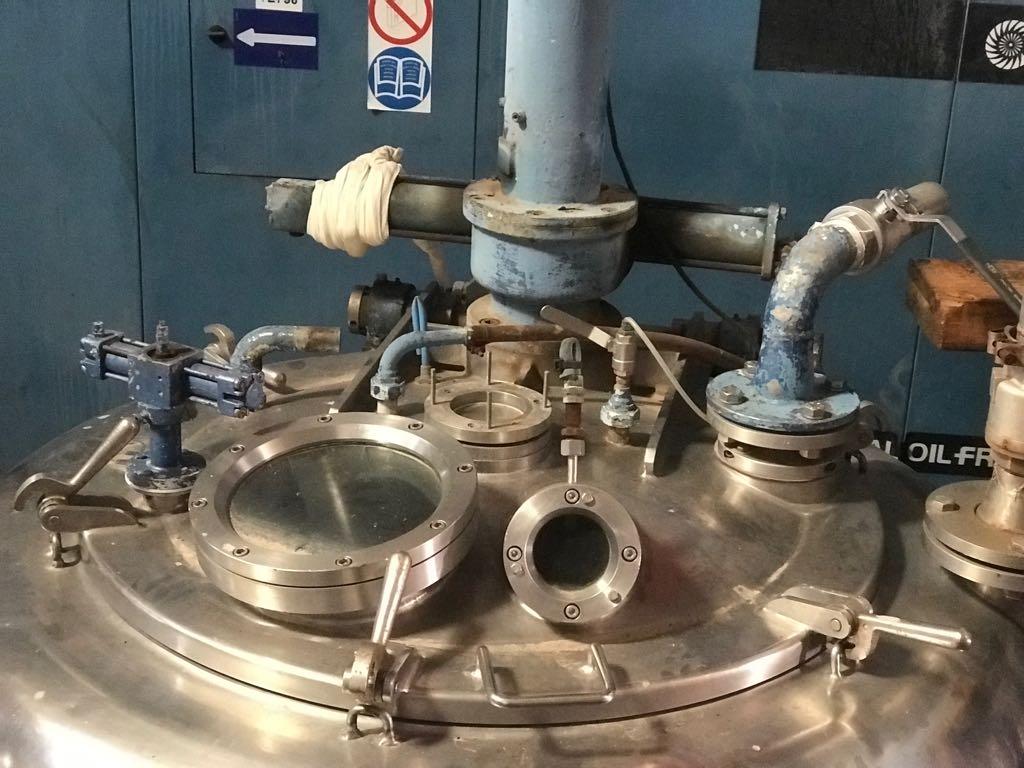 Ferrum PUR-1200 perforate basket centrifuge, 316SS.