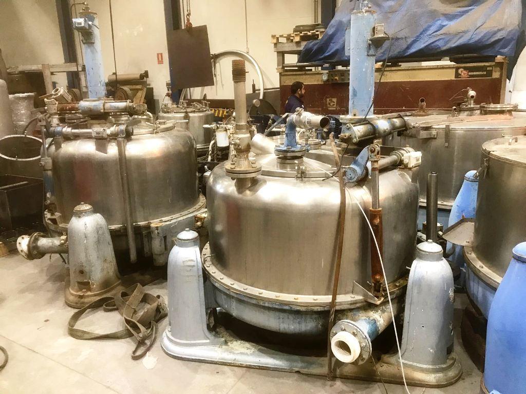 Ferrum PUR-1250 perforate basket centrifuge, 904L SS.