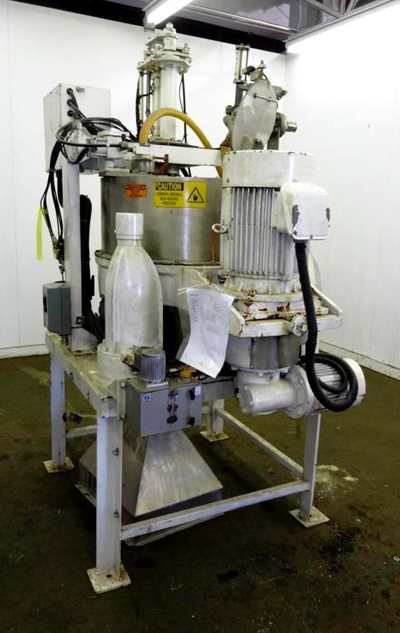 Kokusan 26 x 12 solid bowl basket centrifuge, 304SS.