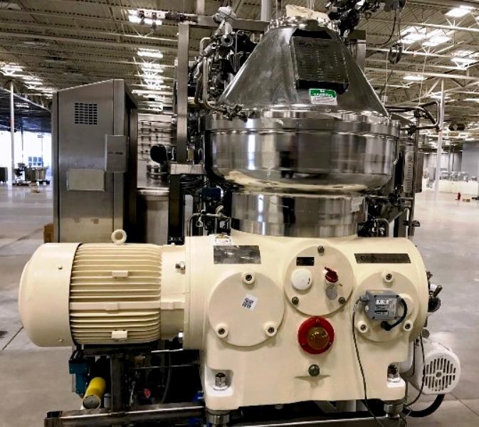 Westfalia CSC 20-06-476 hydro-hermetic clarifier skid.