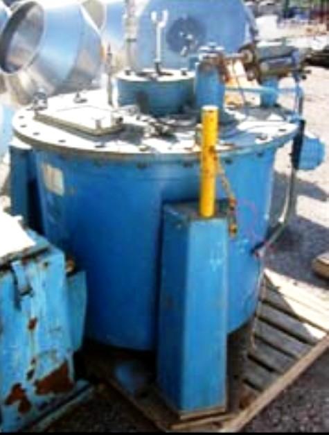 Sanborn 32 x 20 perforate basket centrifuge, Hastelloy C276.