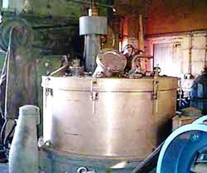 Escher-Wyss V-130 perforate basket centrifuge, 316SS.
