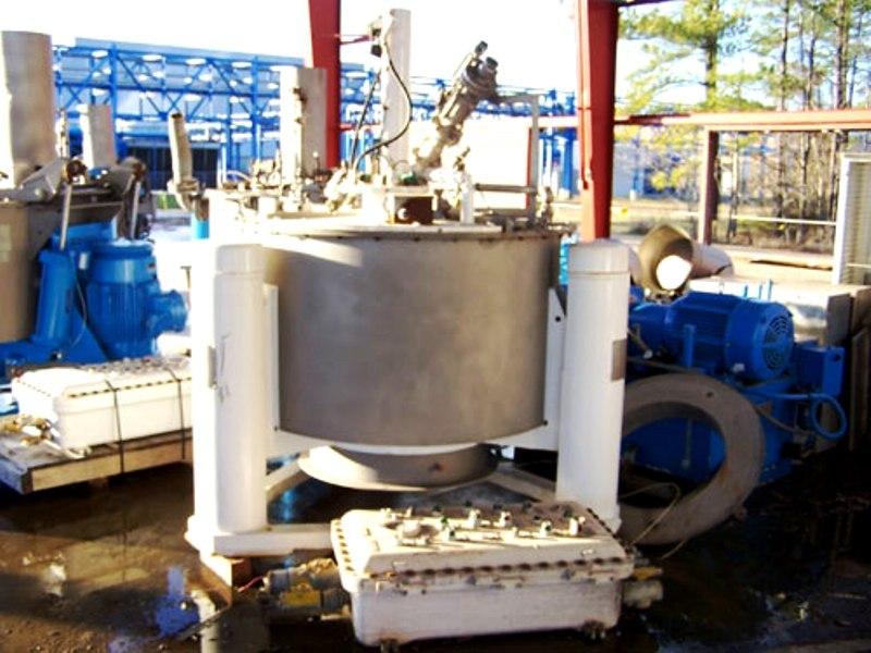 Tolhurst 48 x 24 perforated basket centrifuge, 316L SS.