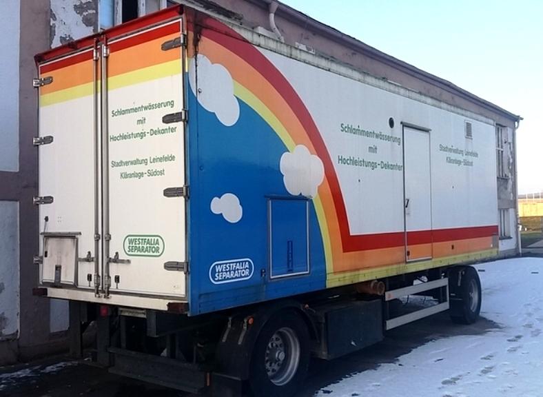 Westfalia CA 458-00-02 mobile sludge dewatering system.
