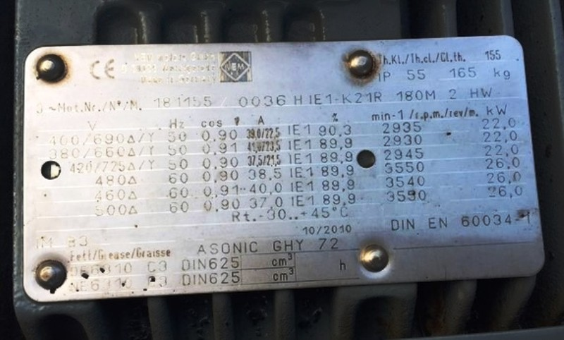 Humboldt CP 3-0 solid bowl decanter centrifuge, CS.
