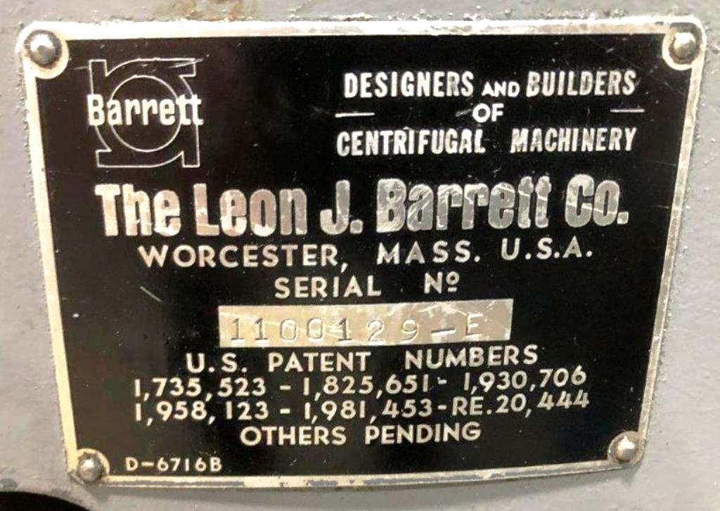 Barrett 1100-E carrier type chip spinner.