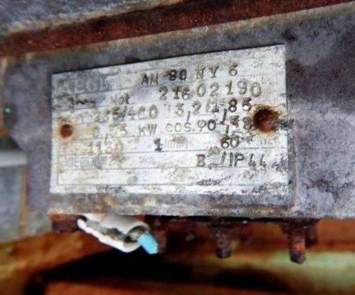 Humboldt-Wedag vibrating screen coal dryer, CS.