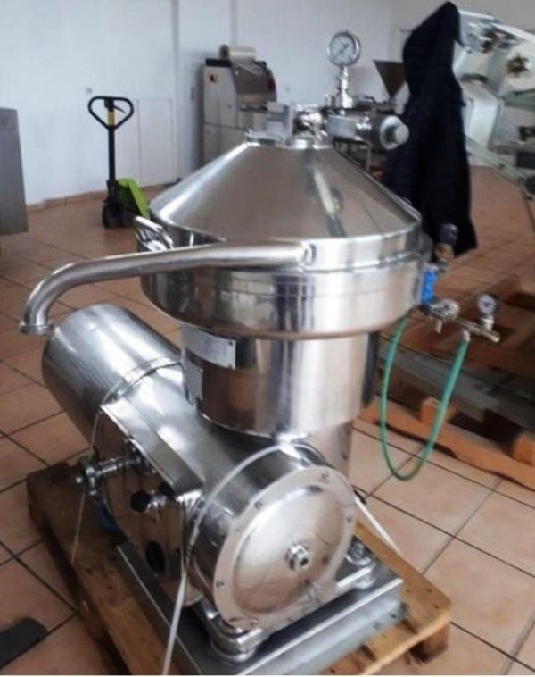 Pieralisi SV 40 self-cleaning cream separator, 316SS.