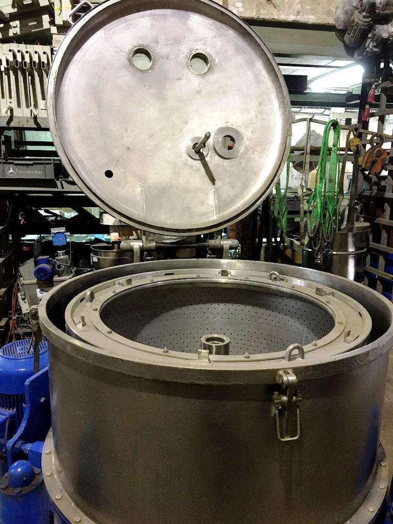 RINA 200F-1000 perforate basket centrifuge, 316SS.