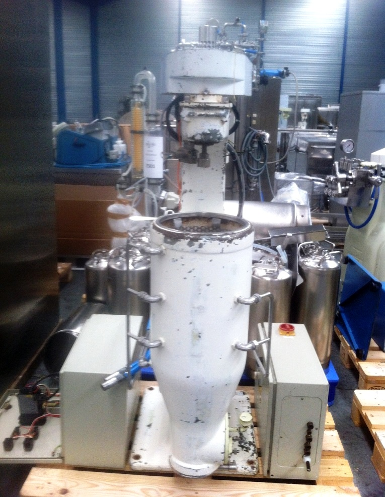 Sharples AS-16 Super centrifuge - missing bowl and covers.